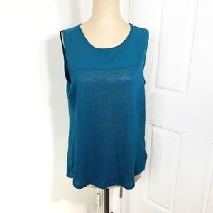 Sanctuary Blue Teal Essential Shell Tank Sz Large